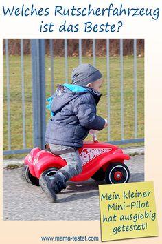 Mein Kleiner hat monatelang mehrere Rutscherfahrzeuge ausgiebig getestet. Hier findest du den Rutschauto Testsieger und viele Tipps und Fotos ... Bobby Car, Baby Strollers, Children, Praxis Test, Pictures, Kids Cars, Hamster Wheel, Pilots, Tips