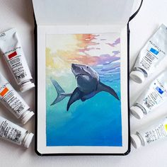 Watercolor Sketchbook, Art Sketchbook, Watercolor Paintings, Canvas Painting Tutorials, Mini Canvas Art, Guache, Sketchbook Inspiration, Gouache Painting, Animal Paintings