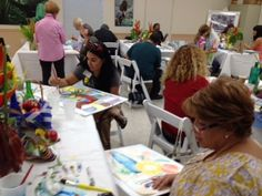 Dottie Greene working with MDPCS art educators