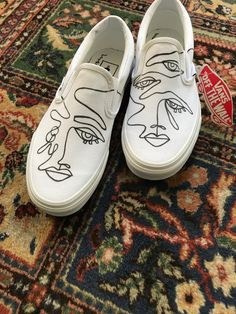 custom vans made to order Custom Slip On Vans, Custom Vans Shoes, Mens Vans Shoes, Vans Slip On, Vans Sneakers, Custom Sneakers, Vans Men, Painted Vans, Painted Sneakers