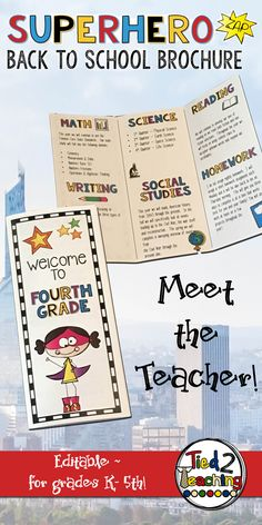 1000 ideas about open house brochure on pinterest open for Meet the teacher brochure template