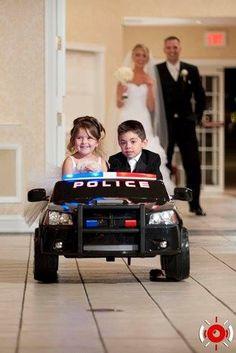 Cop Wedding - how stinkin cute would this be for Jackson and jade to do- @jostmann