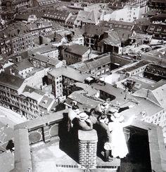 Blick auf das alte Berlin vom Turm des Roten Rathauses um 1900