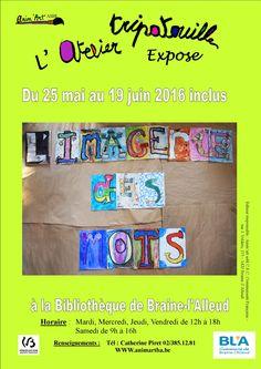 Escapages: Exposition de l'Atelier Tripatouille à la Bibliothèque communale de Braine-l'Alleud