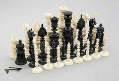 Antique Anglo-Indian Berhampur export chess set Christie's handcarved stained in Antiques, Asian& Antiques, Indian One Night In Bangkok, Chess Players, World Cultures, First Night, Board Games, Chess Sets, Hand Carved, Indian, Chess Boards