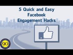5 Quick and Easy Facebook Engagement Hacks Internet Marketing, Online Marketing, Digital Marketing, Hacks Videos, Engagement, Facebook, Learning, Day, Tips