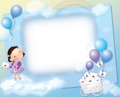 Elegant frame with balloons