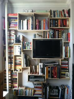 tv in bookcase why not?