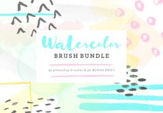 Watercolor Brush Bundle by @Graphicsauthor
