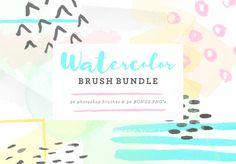 Watercolor Brush Bundle @creativework247