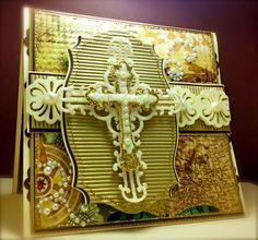Sympathy, Cross, Crucifix, Religious, Vintage, Spellbinders, EK SUccess, America