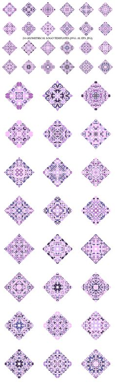 24 Purple Floral Square Logo Templates #curved #polygon #geometrical #logo #LogoTemplateDesign #square #set #AbstractLogoDesign #floralgraphic #logocollection #purplegraphic #AbstractLogos #logotemplates #purplegraphics #AbstractLogoTemplate #shop #GeometricalLogo #logos Logo Design Template, Logo Templates, Vector Design, Abstract Logo, Geometric Logo, Square Logo, Best Logo Design, Logo Background, Pattern And Decoration
