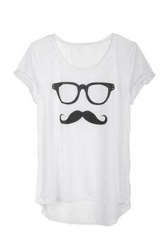 Stache glasses t shirt dELiA*s #mustache