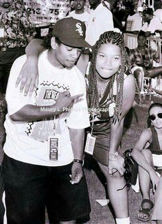 Eazy-E & Queen Latifah In The Early 90's