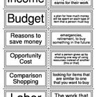 These flashcards cover a variety of economics vocabulary words.    These flashcards correlate with my Complete Economics Unit    Customer Tips:   E...