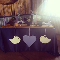 Love birds' table