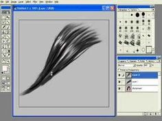 Photoshop painting hair tutorial 2
