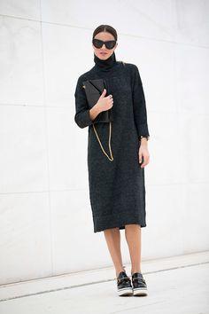 knit & Stella McCartney loafers. Zina in Madrid. #Fashionvibe