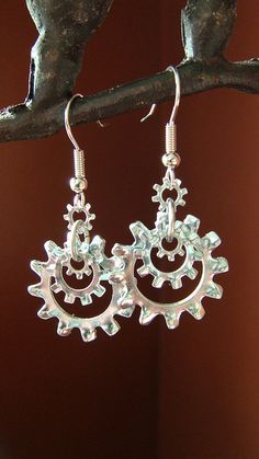 Sprocket Earrings by christy hangartner, via Flickr