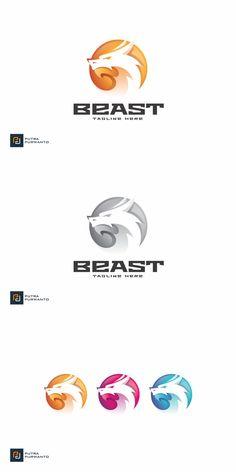 Beast Logo, Monster Design, Logo Templates, Color, Colour, Colors