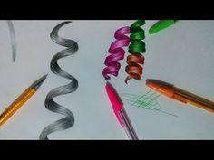 Como desenhar Cabelo Cacheado Realista (grafite e caneta) - How to draw realistic curly hair - YouTube