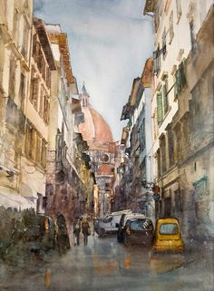 Florence - Watercolor by Minh Dam