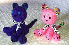 Amigurumi  crocheted  kittens