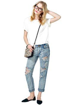 (boyfriend jeans & heels) One Teaspoon 1969 Boyfriend Jeans