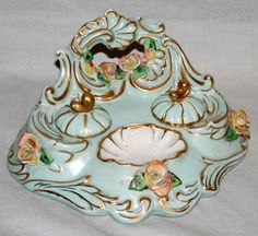 Lovely Limoges Inkwell - just right for my desk!