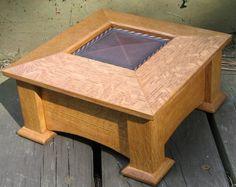 Mission style design, quarter sawn oak wood.