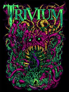 Metal band Trivium from Orlando, Florida Metal Band Logos, Metal Bands, Rock Posters, Band Posters, Rock Y Metal, Black Metal, Art Hippie, Arte Punk, Arte Black