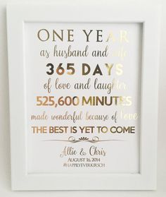 50th Wedding Anniversary Wall Plaque Gifts for Couple, 50th