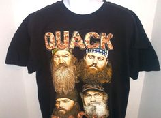 Duck Dynasty QUACK Tee Shirt Black size XL All Cotton Authentic Family Certified #DuckCommander #GraphicTee
