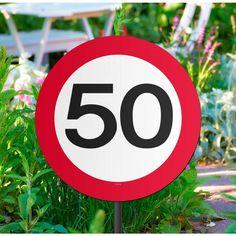 Tuinbord Verkeersbord 50 Jaar.