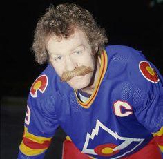 Lanny McDonald of the Colorado Rockies! Colorado Avalanche, Colorado Rockies, Hockey Games, Ice Hockey, Moustache, Lanny Mcdonald, Nice Lips, Ice King, New Jersey Devils