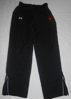 UNDER ARMOUR Womens Pants Black Sports Athletic LOOSE All Season Sz SM Pockets  #UNDERARMOUR #CasualPants