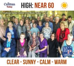 CULLMAN COUNTY WEATHER: THURSDAY, February 18th - CLEAR, SUNNY, CALM, WARM - 60°  TODAY: Cullman County Weather will experience a marked improvement today. Clear, sunny skies with near calm winds and a high temperature of around 60 degrees will make this the nicest day we've had in some time.  Today's weather forecast sponsored by: Vote Eric Parker Chairman Cullman County Commission