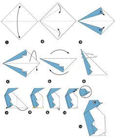Origami de pinguim