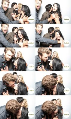 Rhett and Link with their Wives. So cute