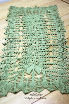 Crochet beauty rectangle tablecloths