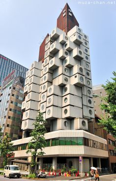 Nakagin Capsule Tower, Shimbashi, Tokyo Architect Kisho Kurokawa