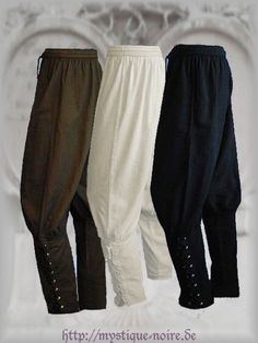 Medieval Viking Navigator Trousers Reenactment SCA Larp Laced Up 3 Colours…