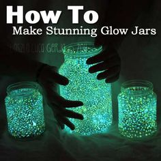 How To Make Stunning Glow Jars For Outdoor Parties