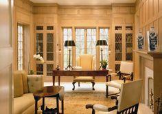 tudor style house home office custom woodwork custom built cabinets luxury homes Washington DC architecture firms Donald Lococo