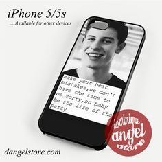Shawn Mendez Quotes (2) Phone case for iPhone 4/4s/5/5c/5s/6/6 plus