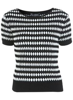 Monochrome Knitted Tee