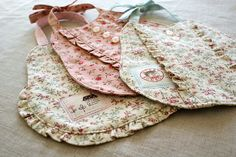 ruffle baby bibs by nanaCompany, via Flickr