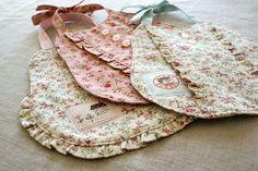 ruffle baby bibs by nanaCompany, via Flickr