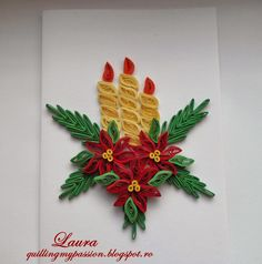 quilling  christmas cards/felicitari de craciun