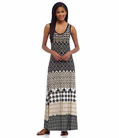 Calvin Klein Tile-Printed Maxi Dress | Dillard's Mobile